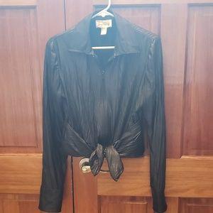 Joseph Ribkoff black zip- up blouse style jacket